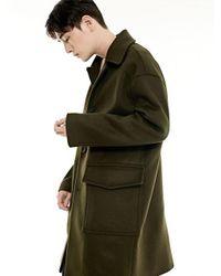 BONNIE&BLANCHE - Green Single Overfit Coat_khaki for Men - Lyst