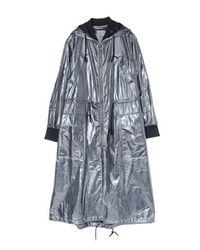 GRACE RAIMENT - Gray Oversize Hood String Coat - Lyst