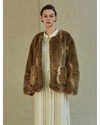 Low Classic Brown Faux Fur Coat