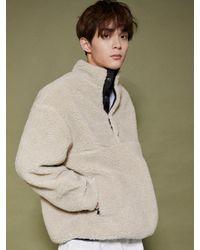 URBANDTYPE Natural Pullover Anorak Fleece