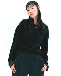W Concept - Necklace Sweatshirt - Black - Lyst