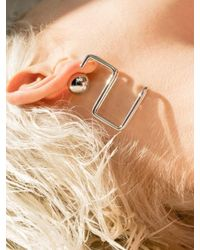 VIOLLINA - Metallic Hanguel Alphabet Single Earring-2 Silver - Lyst