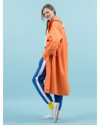 ANOTHER A - Payday Vivid Trenchcoat Orange - Lyst