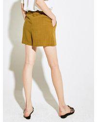 YAN13 - Multicolor Pintuck Short Pants Khaki - Lyst