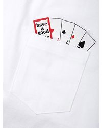 W Concept - [unisex] Playing Card Pocket T-shirt White for Men - Lyst