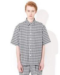 W Concept Gingham Check Shirts Black
