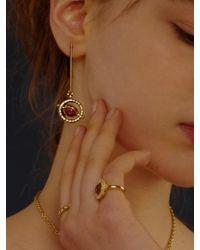 FLOWOOM - Metallic Orbit Earrings Gold - Lyst