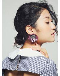 VON DITOLE - Multicolor Mirabo Vintage Sequin Flower Earrings- Purple - Lyst