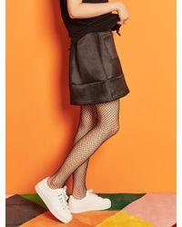 Blank Black Satin Mini Skirt Bk