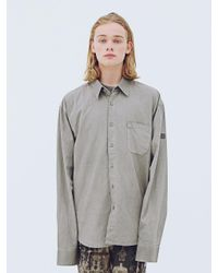 APPARELXIT Gray Pigment Oversized Shirt Grey for men