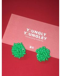 W Concept Green Wandu Earrings