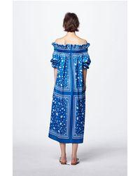 Fleamadonna - Black Bandana Printed Off Shoulder Dress - Lyst