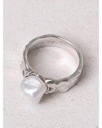 Yuul Yie Metallic Karst Pearl Ring Silver