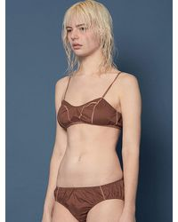 W Concept - Brown Via Clolor Bra Set - Lyst