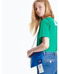 Pushbutton Green Back Label T-shirt