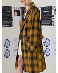 TARGETTO - Oversize Robe Yellow Check - Lyst