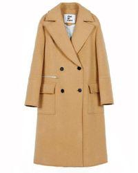 CLUE DE CLARE - Natural Stitch Double Coat Beige - Lyst
