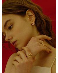 FLOWOOM - Metallic Doodle Pearl Earrings - Lyst