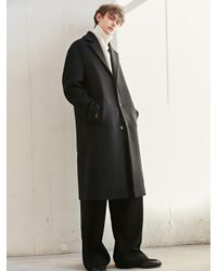 BONNIE&BLANCHE - Contrast Single Long Coat Black for Men - Lyst