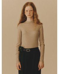 WNDERKAMMER Natural Rawcut T-shirt Grayish Beige