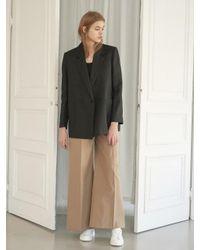 NILBY P - Black Linen Double Jacket [bk] - Lyst