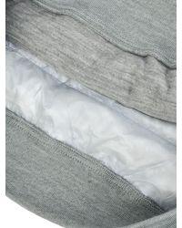 Nanamica - Gray Down Crew Neck Sweater for Men - Lyst