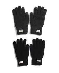 W Concept - Black Touch Gloves Wh Label for Men - Lyst