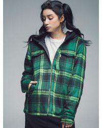 SAINTPAIN [unisex]sp Holland Hood Check Shirt-green