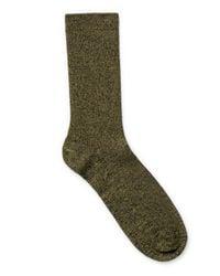 Weekday Green Foot Rib Socks for men