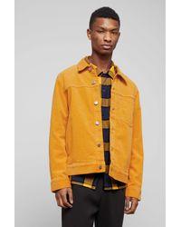 Weekday Yellow Core Corduroy Jacket for men