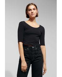 Weekday Black Missy T-shirt