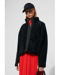 Weekday - Black Odette Pile Jacket - Lyst