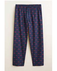 Mango Katoenen Pyjama Met Autoprint Marine in het Blue voor heren