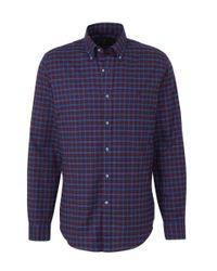 Polo Ralph Lauren Geruit Slim Fit Overhemd Blauw/rood in het Blue voor heren