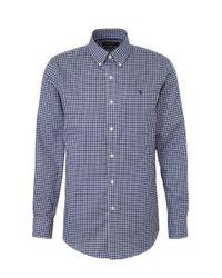 Polo Ralph Lauren Geruit Regular Fit Overhemd Blauw/wit in het Blue voor heren