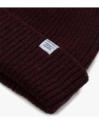 Norse Projects - Red Norse Lambswool Beanie - Lyst