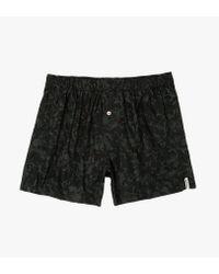 Druthers Black Tonal Floral Boxer Short for men