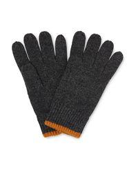 Whistles - Gray Knitted Gloves for Men - Lyst