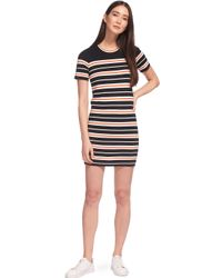 Whistles Multicolor Milano Stripe Knitted Dress