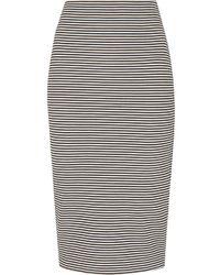 Whistles Black Stripe Jersey Tube Skirt