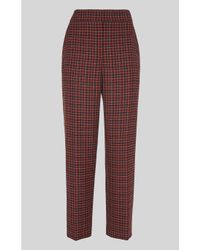 Whistles Red Kate Classic Check Trouser