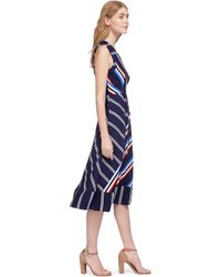 Whistles Blue Multi Stripe Dress