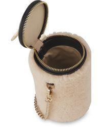 Whistles Natural Eden Shearling Cylindrical Bag