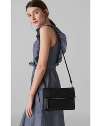 Whistles Black Cleo Double Pouch Crossbody