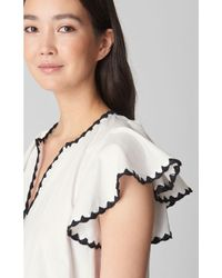 Whistles Multicolor Frill Sleeve Swim Cover Up