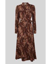 Whistles Brown Elfrida Reed Shirt Dress