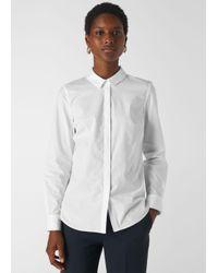 Whistles White Slim Cotton Shirt