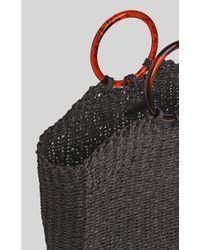Whistles Black Eastway Resin Handle Tote Bag