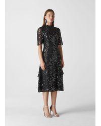 Whistles Black Ivanna Sequin Dress