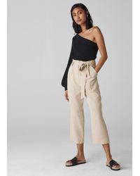 Whistles Natural Paper Bag Belted Trouser